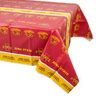 Creative Converting 724701 54 inch x 108 inch Iowa State University Plastic Table Cover - 12/Case