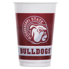 Creative Converting 014094 20 oz. Mississippi State University Plastic Cup - 96/Case