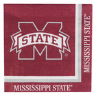 Creative Converting 664094 Mississippi State University 2-Ply 1/4 Fold Luncheon Napkin - 240/Case