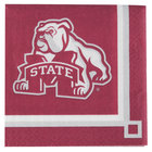 Creative Converting 654094 Mississippi State University 2-Ply Beverage Napkin - 240/Case