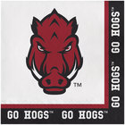 Creative Converting 669855 University of Arkansas 2-Ply 1/4 Fold Luncheon Napkin - 240/Case