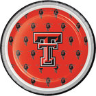 Creative Converting 414891 7 inch Texas Tech University Paper Plate - 96/Case