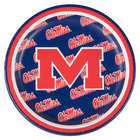 Creative Converting 414893 7 inch University of Mississippi Paper Plate - 96/Case