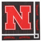 Creative Converting 659853 University of Nebraska 2-Ply Beverage Napkin - 240/Case