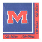Creative Converting 664893 University of Mississippi 2-Ply 1/4 Fold Luncheon Napkin - 240/Case