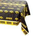 Creative Converting 729900 54 inch x 108 inch University of Iowa Plastic Table Cover - 12/Case