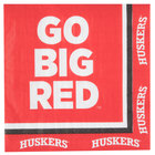 Creative Converting 669853 University of Nebraska 2-Ply 1/4 Fold Luncheon Napkin - 240/Case