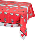 Creative Converting 724858 54 inch x 108 inch University of Wisconsin Plastic Table Cover - 12/Case