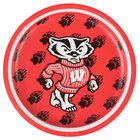 Creative Converting 414858 7 inch University of Wisconsin Paper Plate - 96/Case