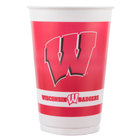 Creative Converting 014858 20 oz. University of Wisconsin Plastic Cup - 96/Case