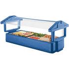 Cambro 6FBRTT186 72 inch x 33 inch x 27 inch Navy Blue Table Top Food / Salad Bar