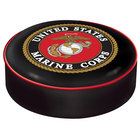 Holland Bar Stool BSCMarine 14 1/2 inch United States Marine Corps Vinyl Bar Stool Seat Cover