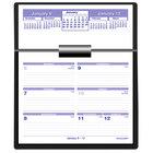 At-A-Glance SW700X00 Flip-A-Week 5 5/8 inch x 7 inch White 2021 Desk Calendar and Base
