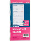 Adams SC1152 2-Part Blue and White Carbonless Rent Receipt Book with 200 Receipts