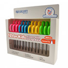 Westcott 13141 5 inch Stainless Steel Pointed Tip Kids Scissors with Straight Handle - 12/Pack