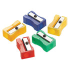 Westcott 15993 Assorted Color Manual Pencil Sharpeners - 24/Pack