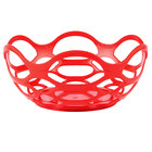 HS Inc. HS1072 7 3/4 inch Red Chili Open Weave Basket - 24/Case