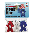 Adams ADM3303523241 3-Piece Red, White, and Blue All-American Plastic Magnet Man Clip Set