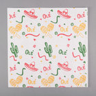 Choice 12 inch x 12 inch Mexican Print Deli Sandwich Wrap Paper - 1000/Pack