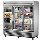 True TS-72G-HC~FGD01 78 1/8 inch Glass Door Reach-In Refrigerator