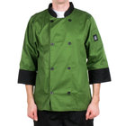 Chef Revival Bronze J134MT-M Cool Crew Fresh Size 42 (M) Mint Green Customizable Chef Jacket with 3/4 Sleeves - Poly-Cotton