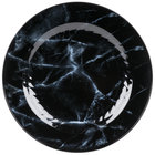 WNA Comet EMP75BK6QRY Textures Quarry Collection 7 1/2 inch Black Marble Motif Plastic Plate - 10/Pack