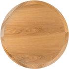 BFM Seating VN24RNT 24 inch Round Natural Ash Veneer Indoor Table Top