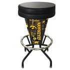 Holland Bar Stool L500030IowaUnBlkVinyl University of Iowa Indoor / Outdoor LED Bar Stool