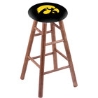 Holland Bar Stool RC30MSMedIowaUn University of Iowa Wood Bar Stool with Medium Finish