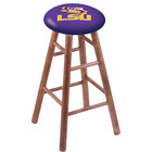 Holland Bar Stool RC30MSMedLaStUn Louisiana State University Wood Bar Stool with Medium Finish