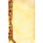 8 1/2 inch x 14 inch Menu Paper Left Insert - Mediterranean Themed Villa Design   - 100/Pack
