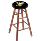 Holland Bar Stool RC30MSMedPitPen Pittsburgh Penguins Wood Bar Stool with Medium Finish