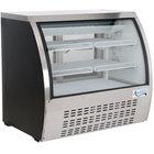 Avantco DLC47-HC-B 47 inch Black Curved Glass Refrigerated Deli Case