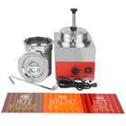 Carnival King WPLL35 3.5 Qt. Warmer with Pump, Inset, Lid, and Ladle - 120V, 550W