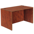 Alera ALEVA214830MC Valencia 47 1/4 inch x 29 1/2 inch Medium Cherry Straight Desk Shell