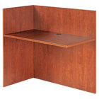 Alera ALEVA324424MC Valencia 44 inch x 23 5/8 inch Medium Cherry Reversible Reception Return