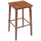 Lancaster Table & Seating Rustic Industrial Backless Bar Stool