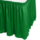 Snap Drape WYN1V1329-KG Wyndham 13' x 29 inch Kelly Green Shirred Pleat Table Skirt with Velcro® Clips