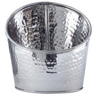 American Metalcraft HMSR7 7 inch Hammered Stainless Steel Angled Beverage Tub - 3 Qt.