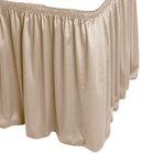 Snap Drape WYN1V21629-BG Wyndham 21' 6 inch x 29 inch Beige Shirred Pleat Table Skirt with Velcro® Clips