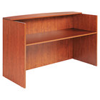 Alera ALEVA327236MC Valencia 71 inch x 35 1/2 inch Medium Cherry Reception Desk with Counter