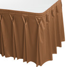 Snap Drape WYN6V21629-BTTR Wyndham 21' 6 inch x 29 inch Butterscotch Bow Tie Pleat Table Skirt with Velcro® Clips