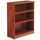 Alera ALEVA634432MC Valencia Series 31 3/4 inch x 14 inch x 39 3/8 inch Medium Cherry 3-Shelf Bookcase