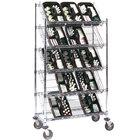 Metro DC55EC 48 inch x 18 inch Four Slanted Shelf with One Flat Top Shelf Merchandiser / Dispenser Rack