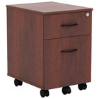 Alera ALEVABFMC Valencia Medium Cherry Two-Drawer Mobile Pedestal - 14 7/8 inch x 19 1/8 inch x 22 7/8 inch