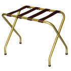 CSL 155I-BL Flat Top Series Antique Inca Gold Metal Luggage Rack - 6/Pack