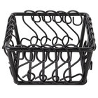 American Metalcraft BSB53 Wrought Iron Scroll Basket - 5 inch x 5 inch x 3 inch