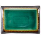 World Tableware BF-13 Hakone 13 1/2 inch x 9 1/4 inch Stoneware Platter - 12/Case