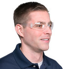 Scratch Resistant Safety Glasses / Eye Protection - Clear with Clear Lens