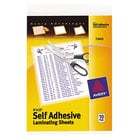 Avery 73603 9 inch x 12 inch Self-Adhesive Laminating Sheets - 10/Pack